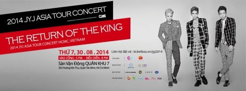 JYJ Concert 2014 au Vietnam. Crédits : Blog MyKpopHuntresshttp://mykpophuntress.com/2014/08/02/jyj-return-king-concert-vietnam/